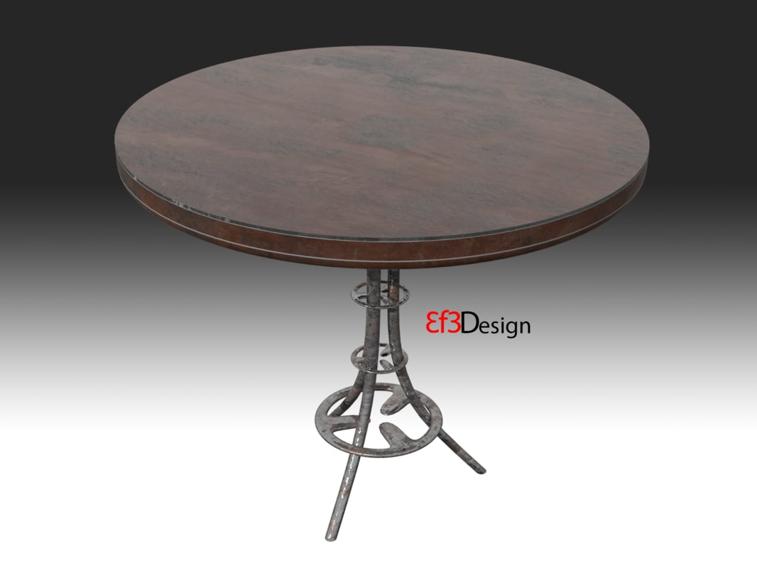 3D old scratchy table model