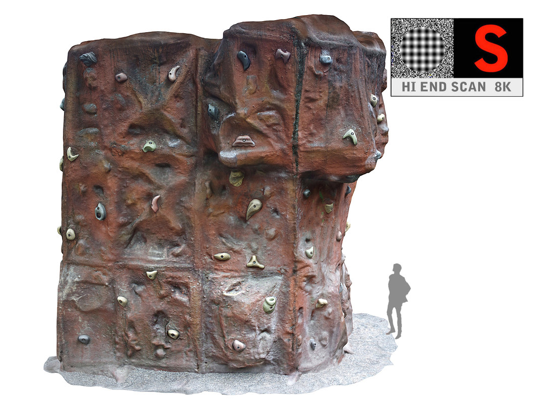 3D climbing wall 8k hd model