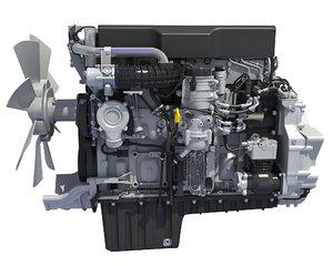 truck engine 3D