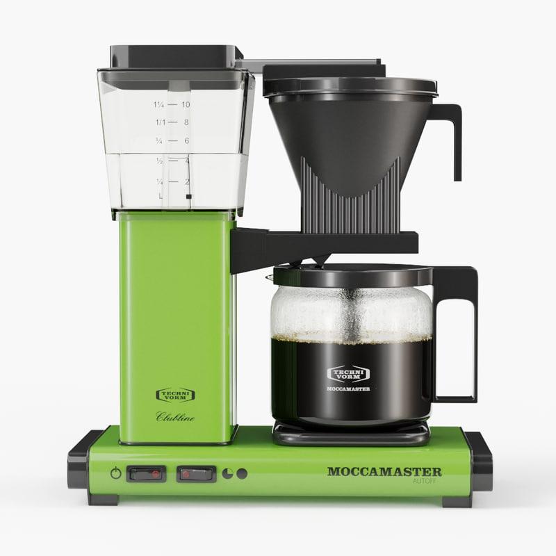 Technivorm moccamaster coffee machine 3D model - TurboSquid 1169471