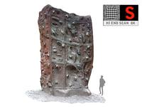 3D model climbing wall 8k hd