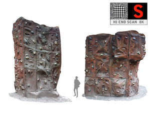 climbing wall 8k hd 3D model