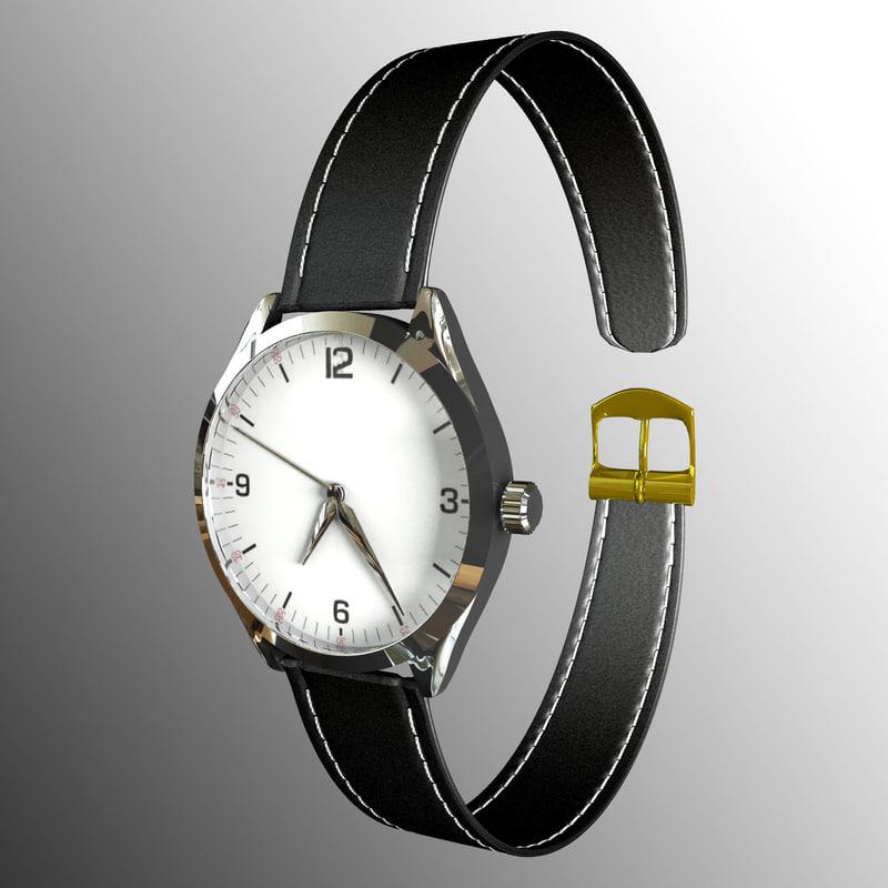 wristwatch clock 3D