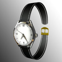 wristwatch clock 3D
