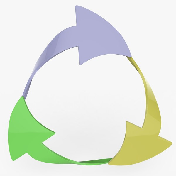 recycle logo sign 3D model