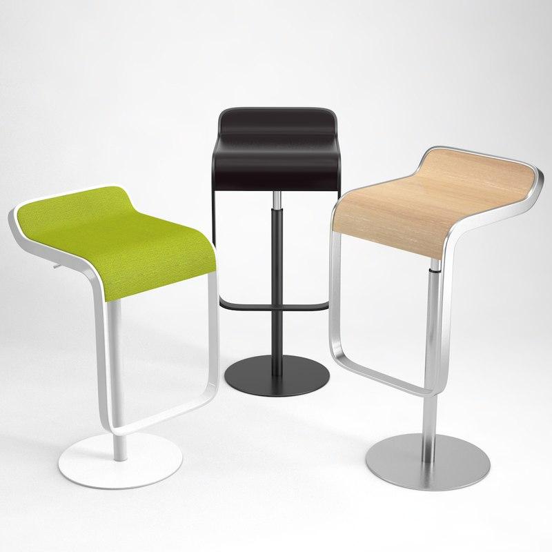 3D lapalma lem bar stool