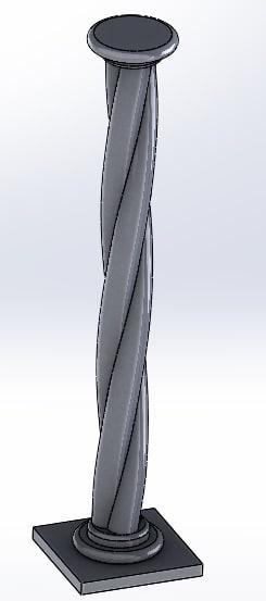 3D model torciglione colonna