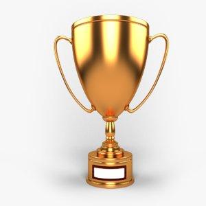 3D trophy cup