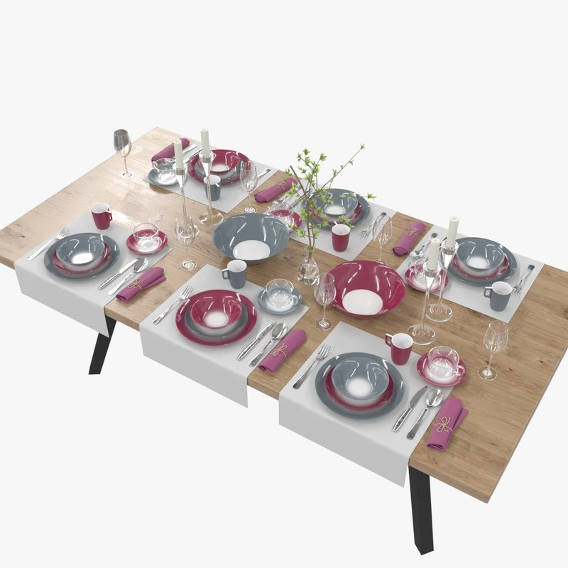table setting luminarc winter model