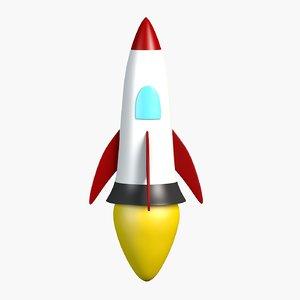 cartoon rocket toon model