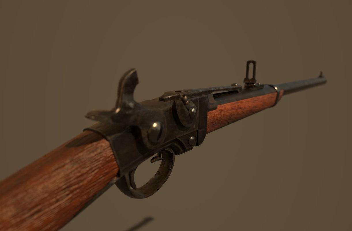 3D model smith carbine