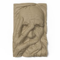 bas relief old man model