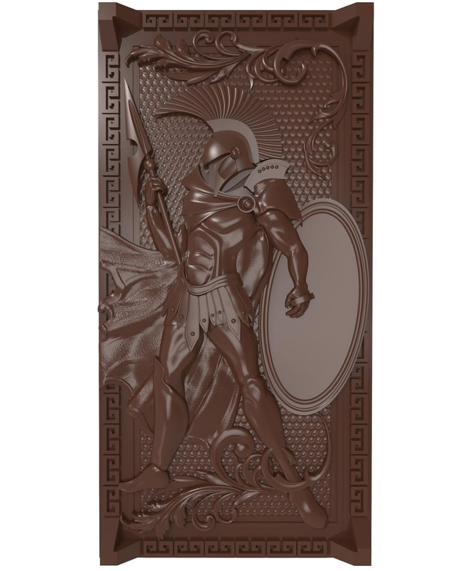 bas relief spartan warrior 3D model