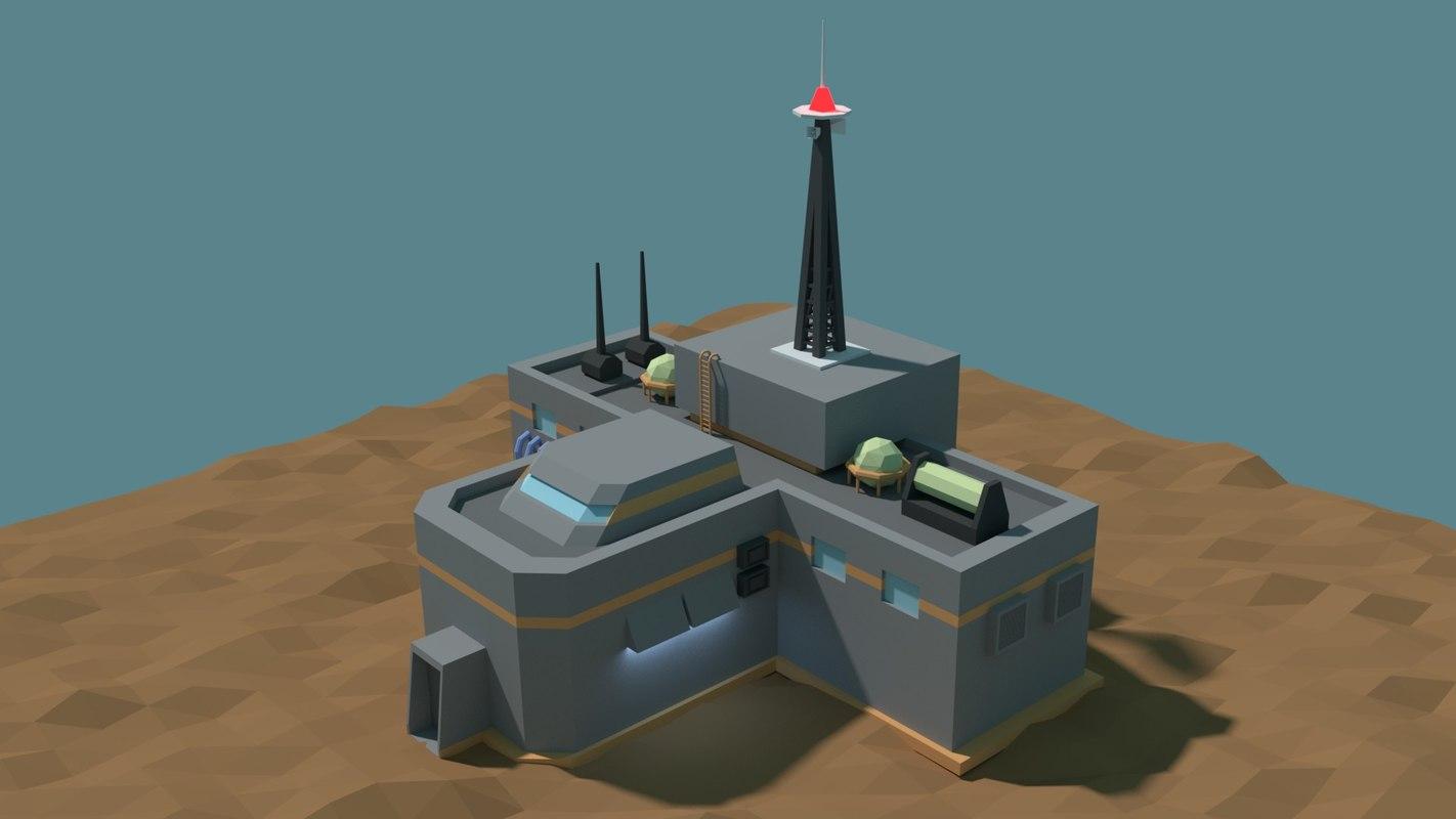 fantasy building 3D