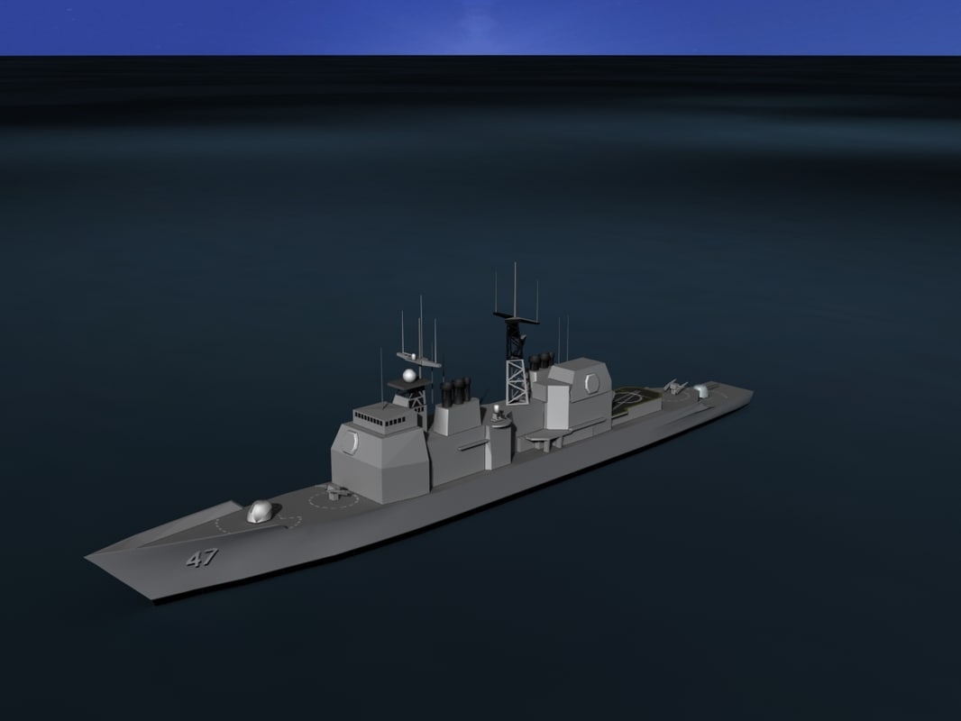 ticonderoga cruiser aegis 3D model