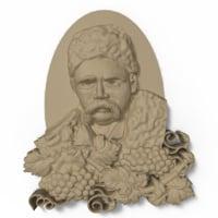 3D taras shevchenko bas relief