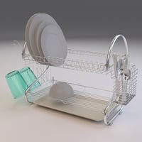 Dish Drainer Plates and Cutlery