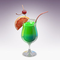3D model shamrock cocktail