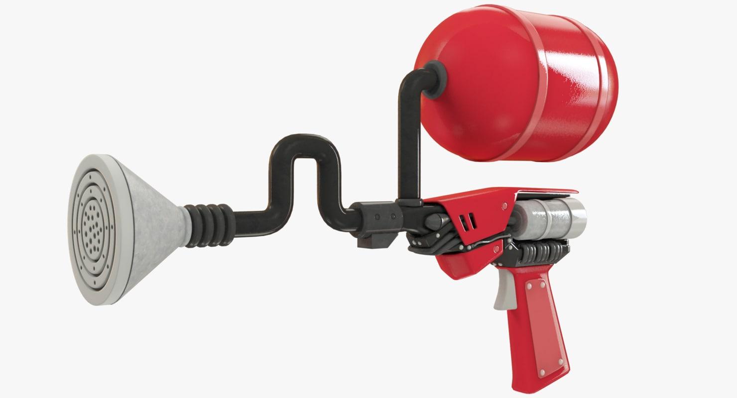 science fiction gas pistol 3D