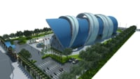 Swimming stadium 3d model