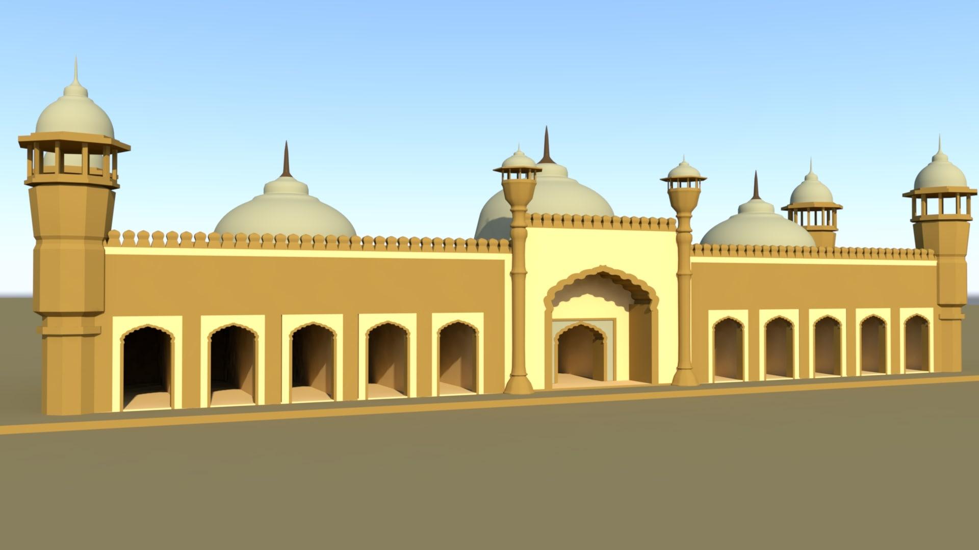 masjid modeled 3D model