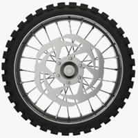 motorcycle wheel 3D