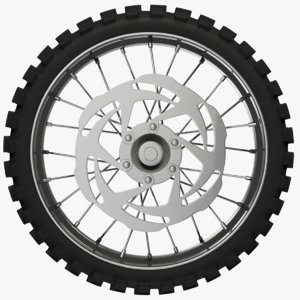 motorcycle wheel 3D
