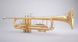 3D realistic trumpet mst
