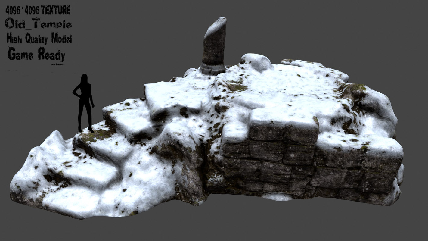 temple snow 3D model