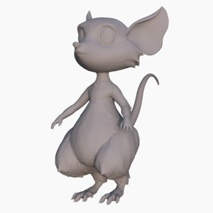 3D cartoon mouse model