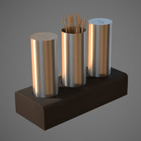 salt pepper toothpick 3D model