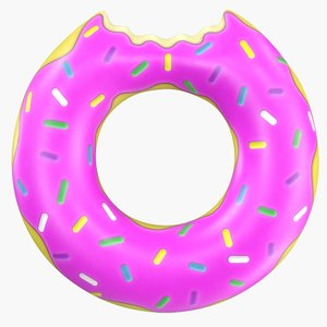 3D inflatable donut pool float