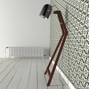 3D low-poly zuraw floor lamp