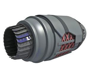 3D model rocket engine