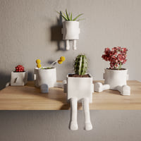 ceramic hanging planter 3D