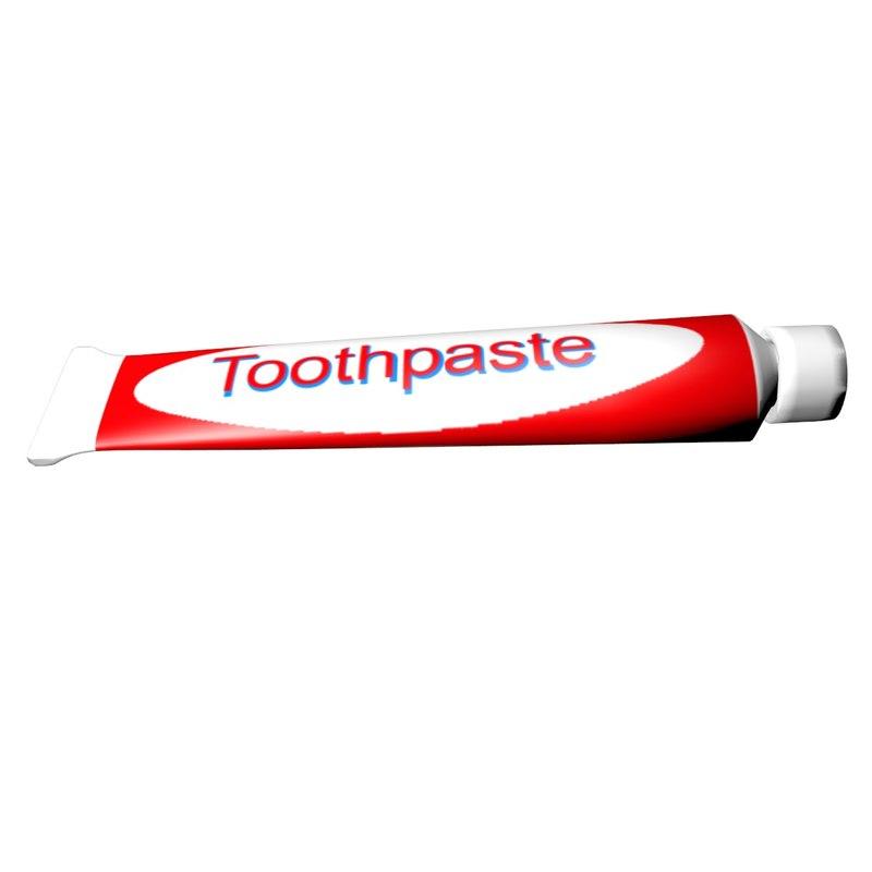 toothpaste tube 3D model