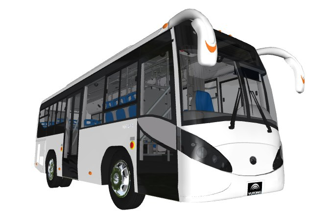 3D model yutong bus