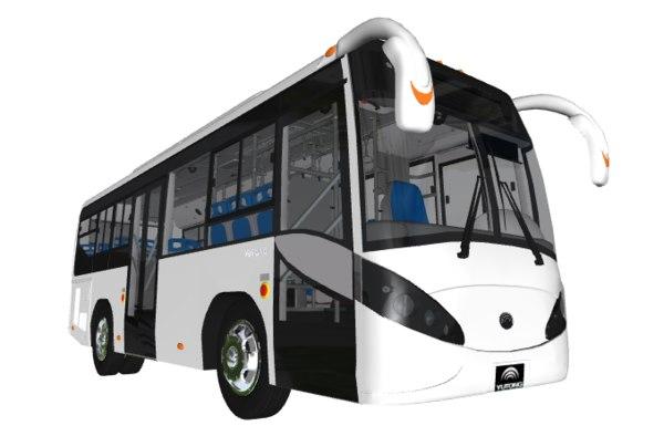 3D model yutong bus