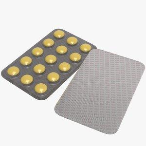 3D medication drugs model
