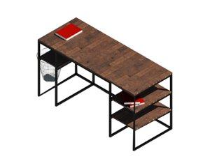 revit desk 3D model