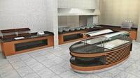hotel kitchen 3D model