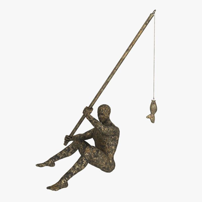 fisherman cast iron 3D model