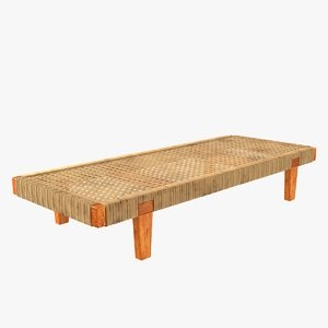 3D daybed mexican bench cane