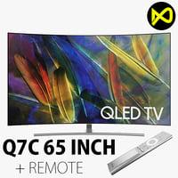3D samsung qled tv q7c