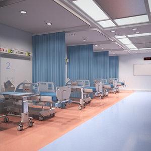 3D hospital ward model