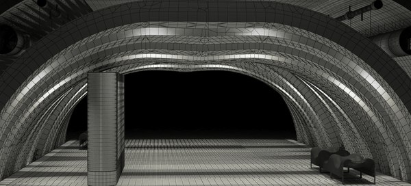 wooden archway 2018 raw 3D model
