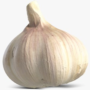 3D garlic subdivision displacement model