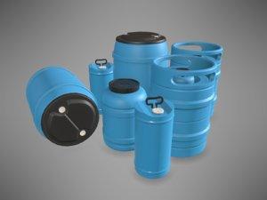 pbr plastic barrels 3D model