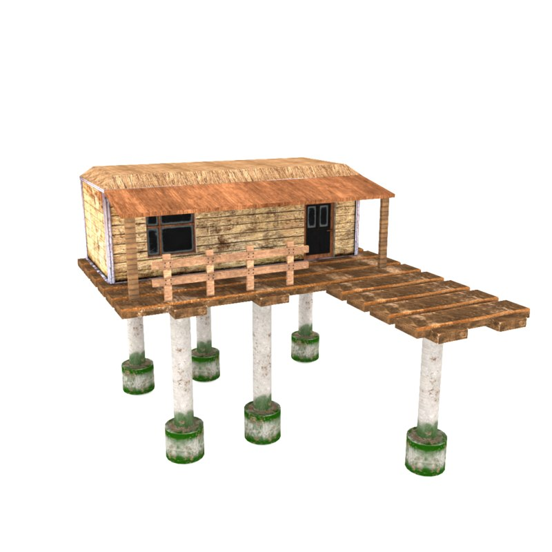 3D model old fisherman s house