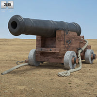 naval cannon 3D model